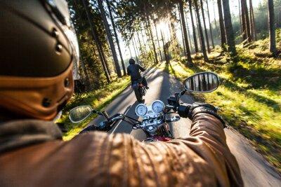 Plakat Zamknąć wysokiej mocy motocykla