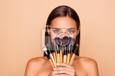 Plakat Zamknij się portret brunetka włosy wypoczynek styl życia przystojny