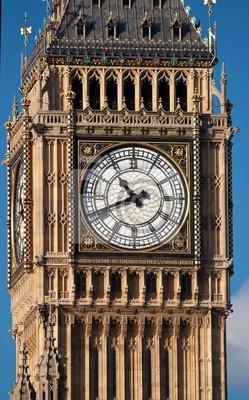 Plakat Zamknij się strzelać z Big Ben w Londynie