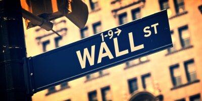 Plakat Zamknij się w kierunku ściany ulicy znak, Nowy Jork, rocznik proces