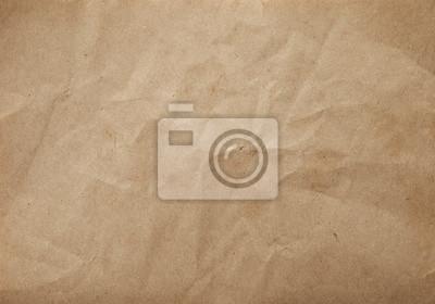 Plakat Zamknij się zmarszczki brązowe torby tekstury