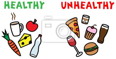 Zdrowe I Niezdrowe Jedzenie I Napoje Plakaty Redro
