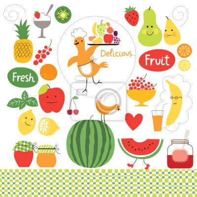 Zdrowe Odzywianie Owoce Zywnosc Grafiki Collection Plakaty Redro