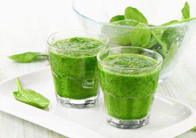 Plakat Zdrowe zielone szpinak smoothie.