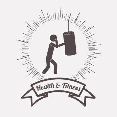 Plakat zdrowie i fitness projekt