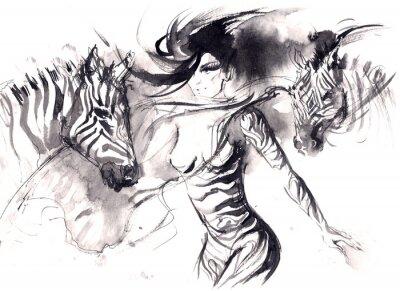 Plakat zebra