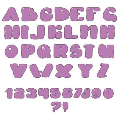 Plakat zestaw liter i cyfr