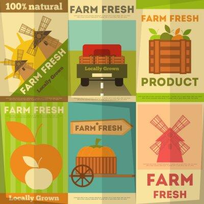 Plakat Zestaw Plakaty Farm Fresh
