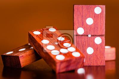 Plakat Zestaw płytek z gry w domino