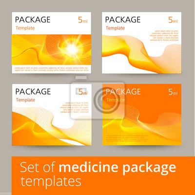 Plakat Zestaw projektowania medycyny pakiet z 3D-szablonu.