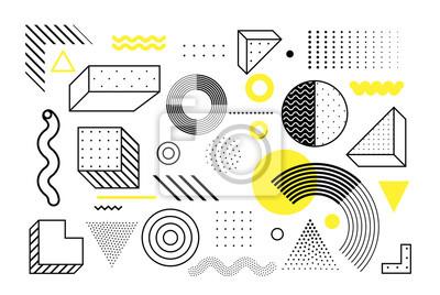 Plakat Zestaw uniwersalnych kształtów geometrycznych