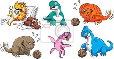Plakat Zestaw znaków Dinosaur
