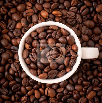 ziaren kawy z białym kubek