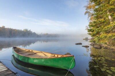 Plakat Zielona Canoe Tied Dock
