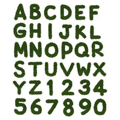 Plakat zielona trawa alfabet