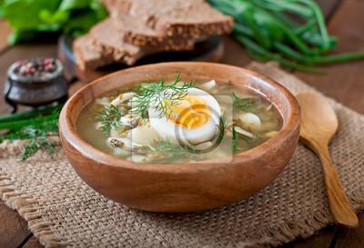 Zielona zupa z szczawiu