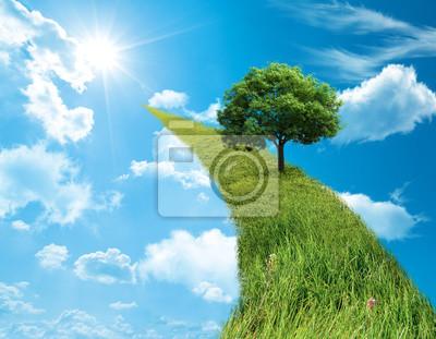 Plakat zielone pojęcie