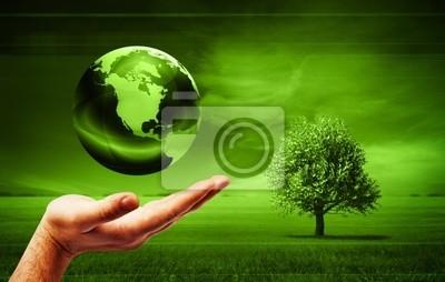 Plakat zielony ziemi
