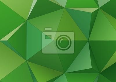Zielonym tle z trójkątów błyszczący