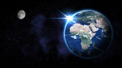 Plakat Ziemia z kosmosu