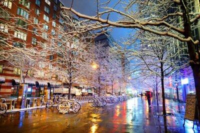 Plakat Zima śniegu w Nowym Jorku