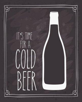 Plakat zimne projektu piwa