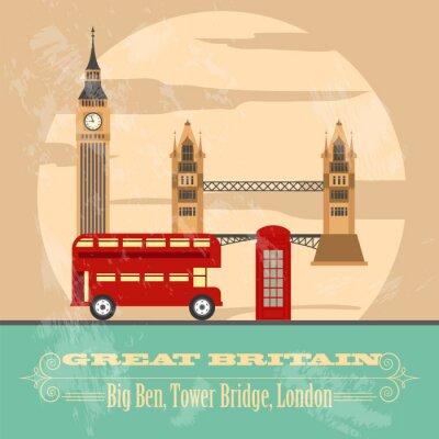 Plakat Zjednoczone Królestwo Wielkiej Brytanii zabytków