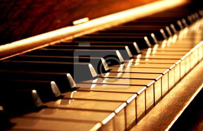 Plakat Złote Piano Keys