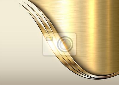 Plakat Złote tło metal, błyszczące metalowe eleganckie otoczenie biznesu