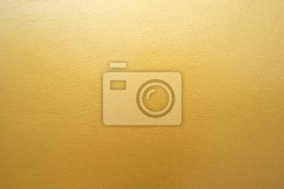 Plakat Złoto betonowy mur na tle tekstury.