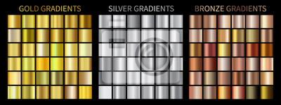 Plakat Złoto, srebro, brązowe gradienty