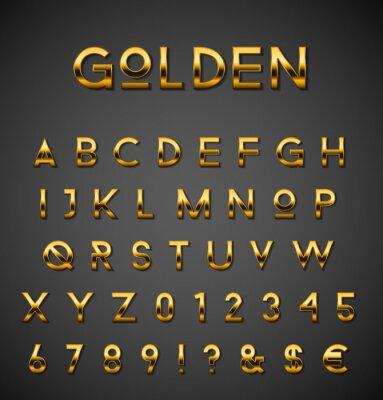 Plakat Złoty zestaw alfabetu