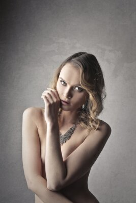 Plakat Zmysłowa blondynka