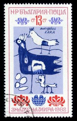 Plakat Znaczek pocztowy.