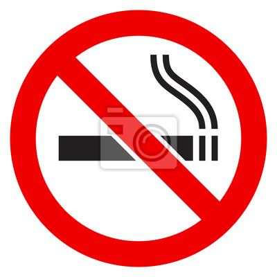 Plakat Znak Zakaz palenia