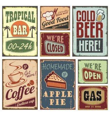 Znaki Stylu Vintage Plakaty Redro