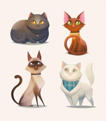 Plakat Znaków kota. Cartoon ilustracji wektorowych.