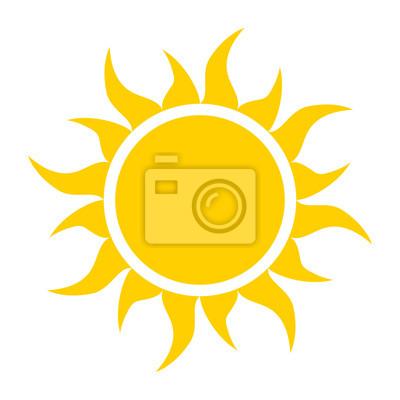 Plakat żółta ikona Słońce