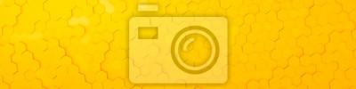 Plakat żółte tło sześciokątne