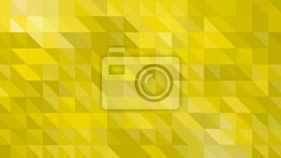 Plakat Żółte tło z trójkątów błyszczący
