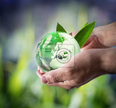 Plakat zrównoważonego rozwoju na całym świecie