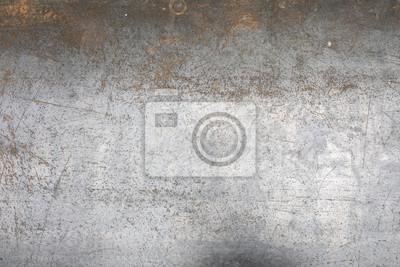 Plakat Zużyte tło tekstura podłogi blachy