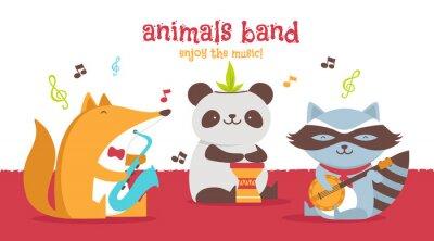 Plakat Zwierzęta zespół