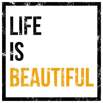 Plakat Życie jest piękny plakat wektor