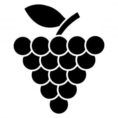 Tapeta A delightful icon of fruit, grapes vector