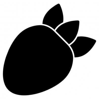 Tapeta A delightful icon of fruit, strawberry vector