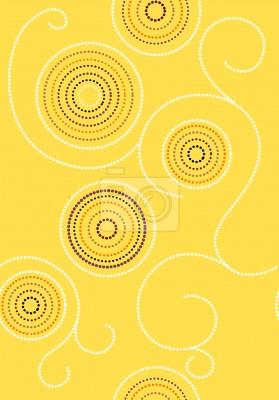 Tapeta Aborygeni Słoneczny Twirls