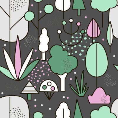Tapeta Abstract forest background