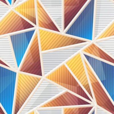 Tapeta Abstract triangle seamless pattern.