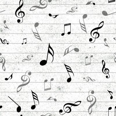 Tapeta Abstrakcjonistycznego muzycznego bezszwowego deseniowego tła wektorowa ilustracja dla twój projekta